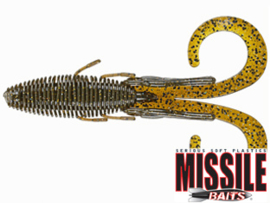 "Missile Baits Baby D Stroyer 5"" Green Pumpkin Flash"
