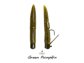 "Lunkerhunt Finesse Worm 3"" Green Pumpkin"