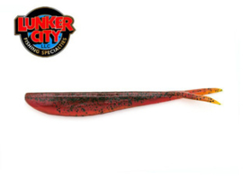 "Lunker City Fin S Fish 5,75"" Motor Oil Pepper"
