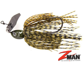 Z Man Project Z Chatterbait 3/4 oz (plm 21 gr) Dark Green Pumpkin
