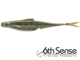 "6th Sense Fishing Flush 5,2"" (plm 13,2c m)  Green Pumpkin Juice"