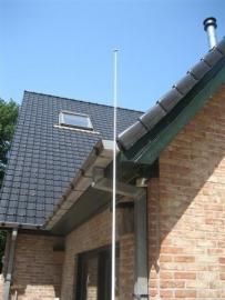 Radio antenne was voorheen van de Zeevaart school Rotterdam