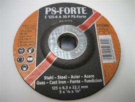 Doorslijp en afbraamschijf geschikt voor haakse slijpmachines NR.PSF125A30PS