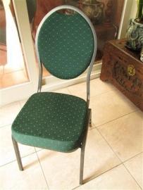Nieuwe 9 x stoelen groen met gouddraad bewerking