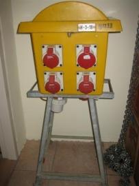 Zwerfkasten-verdeelkasten voor 220/380 volt