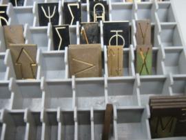 Gravograph Graveer Letters Gesorteerd 49 Stuks