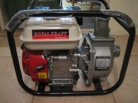 Vuil-Waterpomp nieuw met benzinemotor Royal kraft 5,5hp WP20