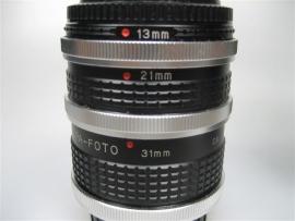 Canon objectieven voorzet stukken 13mm-21mm-31mm