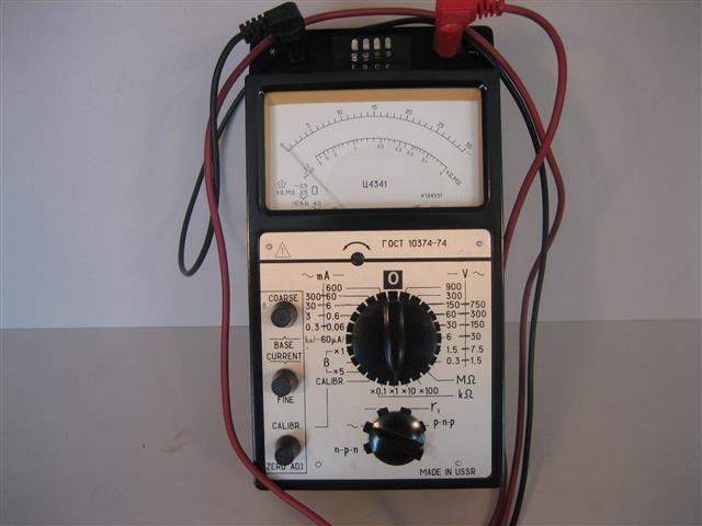 Transistor Volt Meetapparatuur