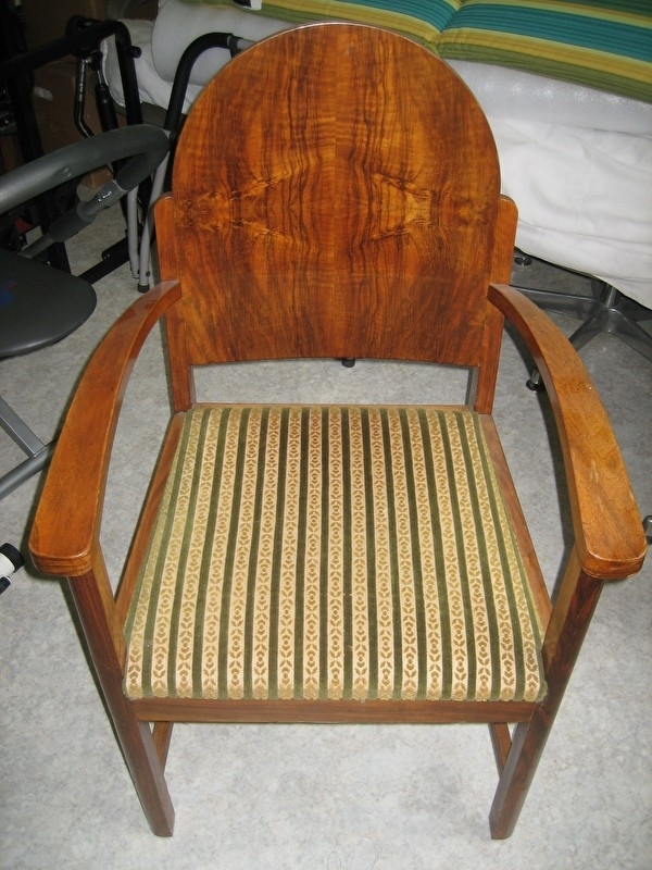 Art-Deco wortelnote fauteuils uit ca. 1920