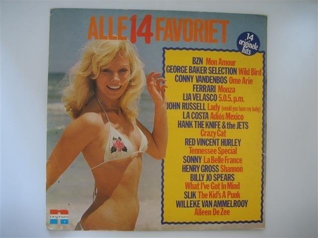 Alle 14 Favoriet originele hits o.a. met BZN NR.LP00148