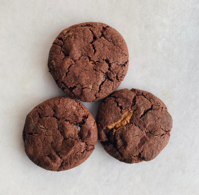 Chocolade met chocolate chip & pindakaas