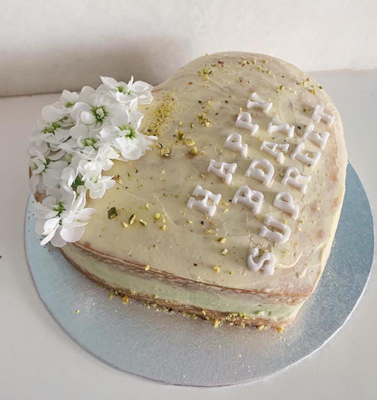 Pistache/vanille taart