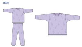 Frogs and dogs  - Giraffe  - kleuter-kinder - meisjes - pyjama / BESCHIKBAAR HALF AUGUSTUS