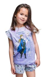 Disney Frozen II - shortama - lila - Stronger together - 100% jersey katoen