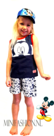 Mickey Mouse - singlet -shortama/zomerset - blauw/rood