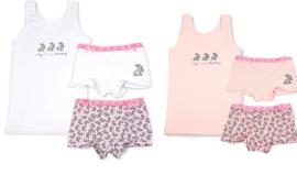 Funderwear - kleuter/kinder/tiener - Ondergoed sets - Furry Bunny - 1+1