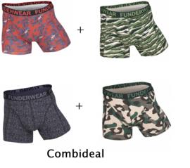 Funderwear - kleuter/kinder/tiener - Ondergoed / boxers - jongens - Jungle Safari - 3+1 = 4 boxers