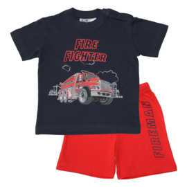 Fun2wear - baby - kinder - tiener - Brandweer/ Firefighter - shortama / pyjama