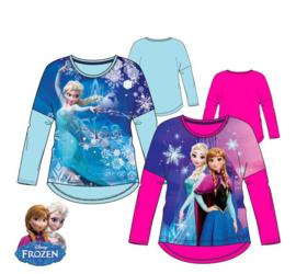 Disney Frozen - Kinder/ kleuter - longsleeve- shirt - Blauw of Roze