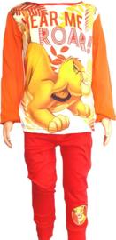 Lion King pyjama - meisjes- Oranje