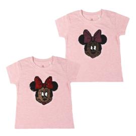 Minnie Mouse t-shirt reversable pailletten