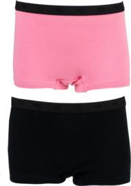Funderwear- slips-hipsters - 2 stuks /fuchsia en zwart