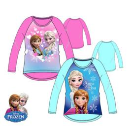 Disney Frozen - Kinder/ kleuter - longsleeve - shirt - Blauw of Roze