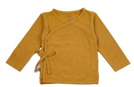 Frogs and Dogs - kraamcadeau / baby - meisjes - lemon - wrap/wikkel shirt / BESCHIKBAAR SEPTEMBER