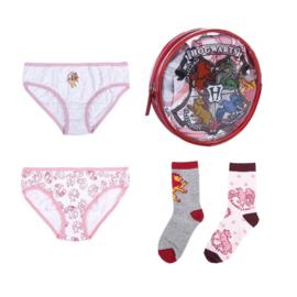 Harry Potter - meisjes - ondergoed en sokken pakket in cadeau etui
