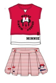 Minnie Mouse zomerset shirt + rok, in rood of blauw