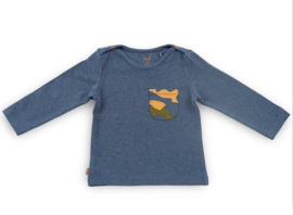 Frogs and Dogs - longsleeve blauw/camouflage - unisex