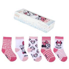 Minnie Mouse   - baby sokjes -  in cadeaudoos