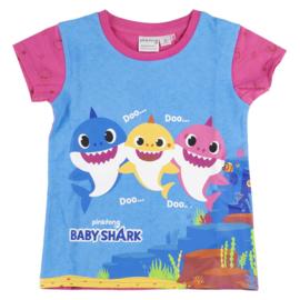 Babyshark shortama/zomerset - roze - DEAL