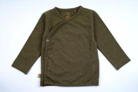 Frogs and Dogs - kraamcadeau / baby - jungle - Khaki - wrap/wikkel shirt / BESCHIKBAAR SEPTEMBER