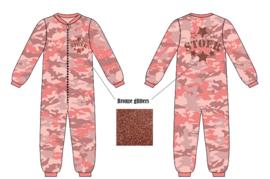 Frogs and dogs  - Stoer Camo Pink - all over print  - kleuter-kinder - meisjes - pyjama / BESCHIKBAAR HALF SEPTEMBER
