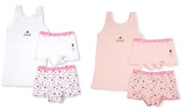 Funderwear - kleuter/kinder/tiener - Ondergoed sets - Princess- 1+1