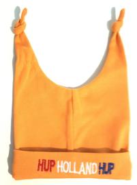 Oranje  mutsje - newborn / Hup Holland