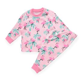 Frogs and dogs  - Flamingo  - kleuter-kinder - meisjes - pyjama / BESCHIKBAAR OKTOBER
