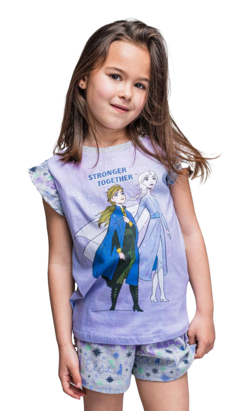 Disney Frozen II - shortama - lila - Stronger together - 100% jersey katoen - DEAL