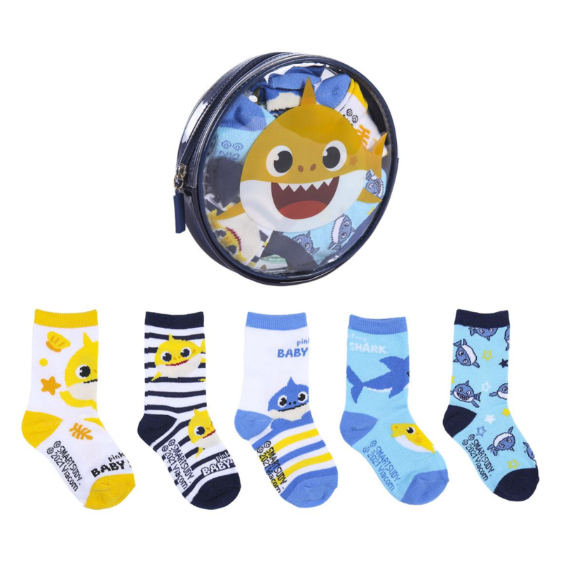 Baby Shark  - baby sokjes in cadeau etui