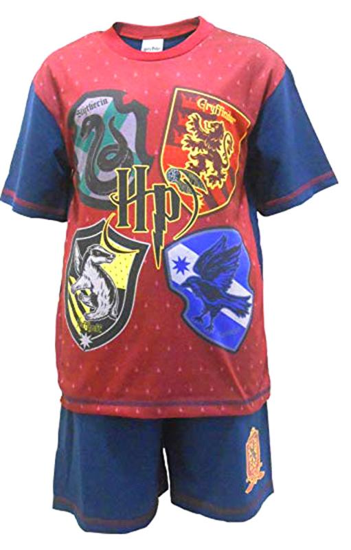 Harry Potter - kinder- tiener - pyjama - shortama - Rood/Blauw - DEAL