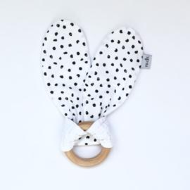 Teething ring | Monochrome dots & white