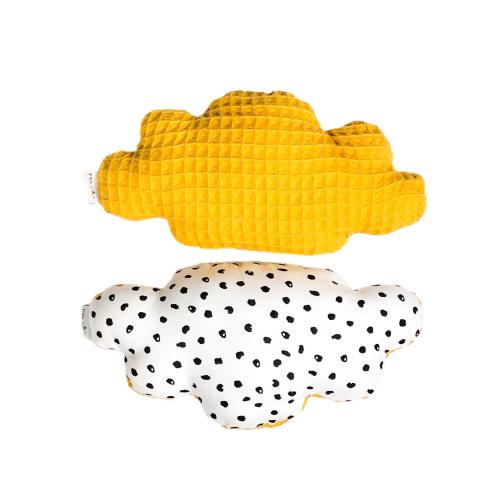 Rattle toy | Cloud | Monochrome dots & mustard
