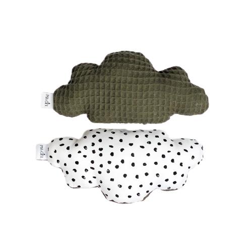 Rammelaar | Wolk | monochrome dots & army groen