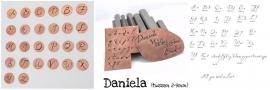 Daniela -SET hoofdletters en kleine letters, 8-9mm