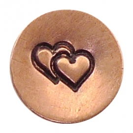 Heart Double, 4,25x5mm (UrbanBeader)