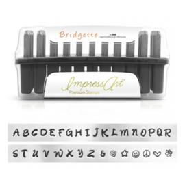 Premium Bridgette - Complete set: hoofdletters, kleine letters en cijfers