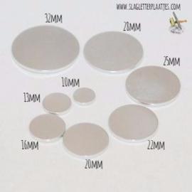 Aluminium 1,5mm dik - Rond 10, 13, 16, 20, 22, 25, 28 & 32mm (8 stuks)