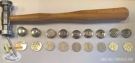 Textuur hamer met 9 kleine verwisselbare koppen